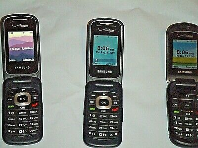 Verizon Samsung Used Cell Flip Phones Lot Of 3 (2 Sm8311V & 1 Sch U365 )   Good