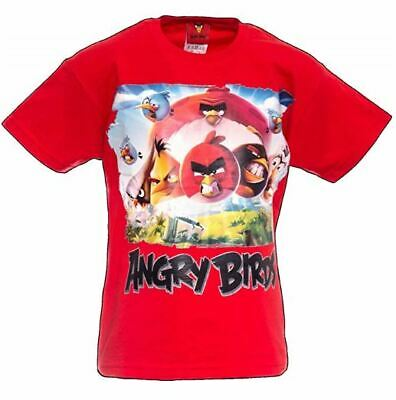ANGRY BIRDS Kids Angry Bird RED Movie T-Shirt Youth Shirts Ages 2-13 Years