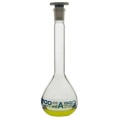 LabGlass Volumetric Flask with Stopper 100ml Class 'A' 14/23 Pack of 2