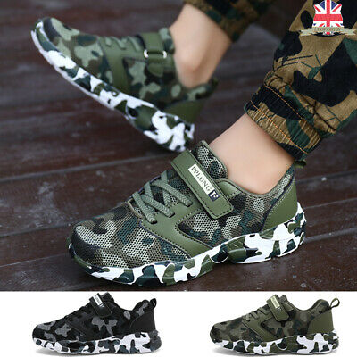 DAYATA Camouflage Print Basketball Shoes for Kids Boys Outdoor Sneakers Childrens Sport Shoes