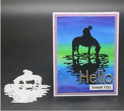 Drinking Horse Metal Cutting Dies Scrapbooking Embossing Stencil Mold Making