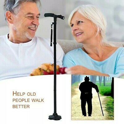 Self Standing Foldable Walking Cane/stick With 6 Led Ligjt