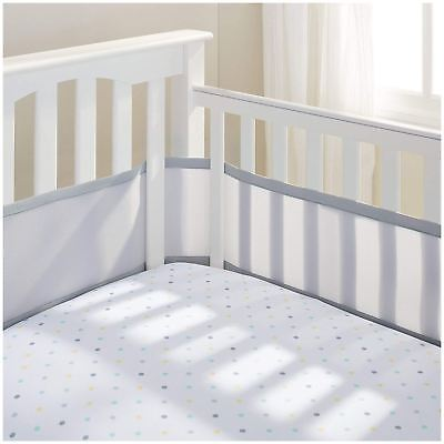 Breathable Baby MESH COT/COTBED LINER 4 SIDED - GREY Baby Child BN