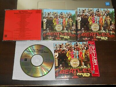 THE BEATLES Sgt Peppers Lonely Hearts Club Band CD Japan EMI Odeon CP32-5328