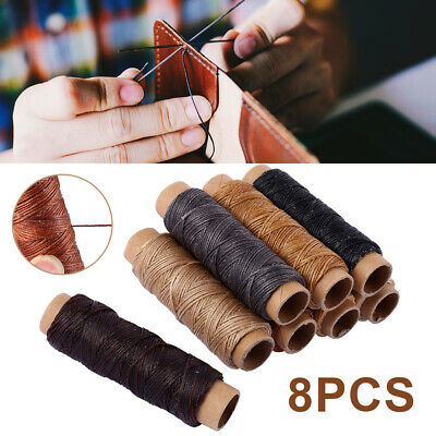 30m*6 Waxed Thread Cotton Cord Sewing Line Handicraft Leather Polyester String