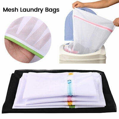 5 x Zipped Wash Bags Set Laundry Mesh Net Bra Sock Underwear Washing Machine B