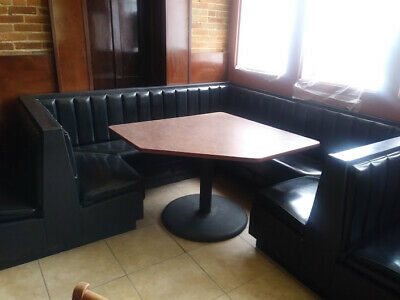 NEW RESTAURANT DINING Booth Singles Doubles Black 48
