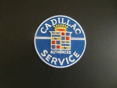 CADILLAC-WHITE  & Blue Embroidered 3 x 3 Iron On Patch