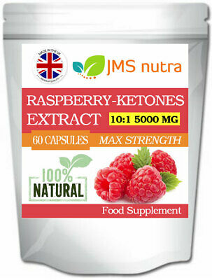 Raspberry Ketones Extract 10:1 5000mg Potent Weight Loss Diet Slimming Pills