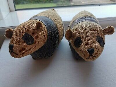 Dora Designs Panda Bear Book Ends or Small Door Stops Pair