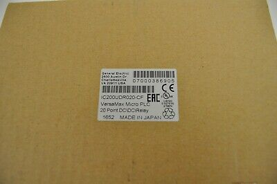 GE VersaMax Micro PLC 20 Point DC/DC/Relay IC200UDR020-CF. New Surplus in Box!