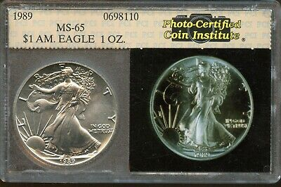1989 United States Uncirculated American Silver Eagle One Dollar Coin SE748