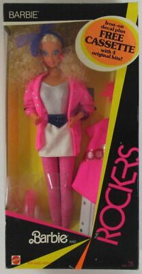 1985 Barbie and the Rockers Barbie Doll (Includes Cassette)(NEW)