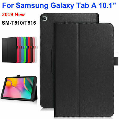 """Leather Tablet Stand Flip Case Cover Samsung Galaxy Tab A 10.1"""" T510 T515 2019"""