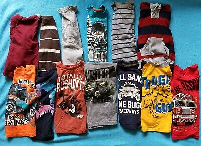 Toddler Boy Long Sleeve Shirts Lot of 13 Size 4T Childrens Place Carters, etc