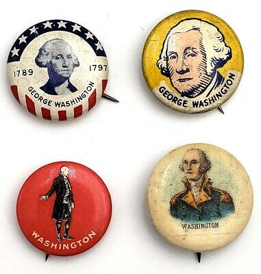 George Washington Bicentennial & Vintage Button Set