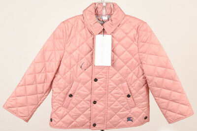 Burberry Children pink toddler girl 2T quilted snap front coat jacket NEW $240