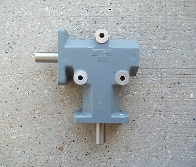 """MITRPAK R12 Right Angle 90° 2:1 Gear Drive Gear Box with 3/4"""" Shaft ~SHIPS FREE"""