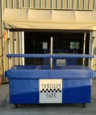 Cambro CamKiosk Blue Vending Cart