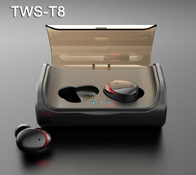 T8 TWS Wireless Earphones Bluetooth 5.0 Headset Waterproof Sports Stereo Earbuds