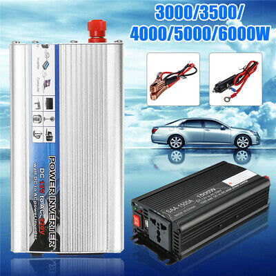 3000W/4000W/5000W/6000W Solar Power Inverter DC12V to AC 220V Car Sine