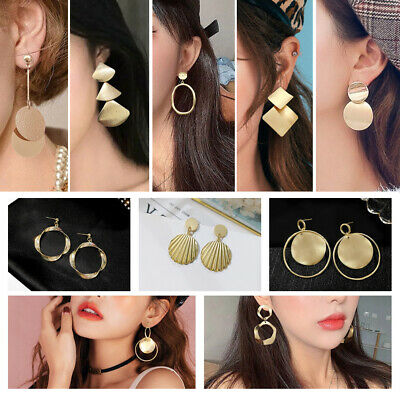 Fashion Statement Metal Geometric For Women Boho Dangle Earrings Modern Jewelry~