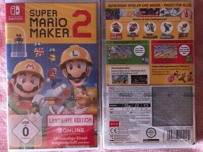 Switch Super Mario Maker 2 Limited Edition Neu in Originalverpackung