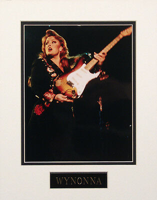 Wynonna 8x10 Color Glossy Photo Custom Matted w/ Engraved Nameplate #2