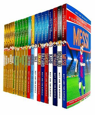 Tom & Matt Oldfield Collection Ultimate Football Heroes 20 Books Pack Set New