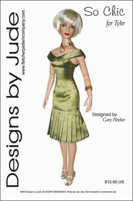 So Chic Dress Doll Clothes Sewing Pattern for Tyler Fletcher Tonner