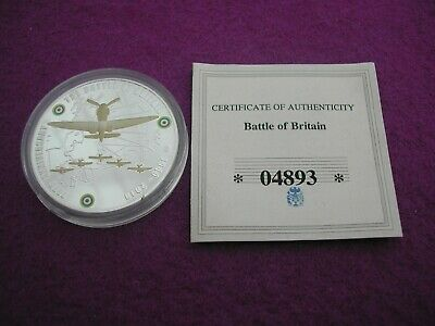 Battle Of Britain 70Th Anniversary Silver-Plated Coin. . Capsuled
