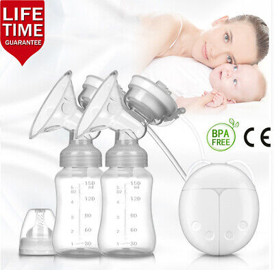 Electric Hand Free Double Breast Pump Automatic Intelligent Baby Feeder USB EBEO
