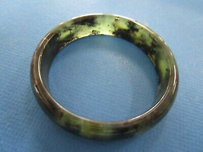 Chinese  Spinach Jade Semi Translucent Ladies Bangle