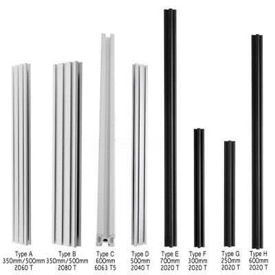 CNC T-Slot Aluminum Profiles Extrusion Frame DIY For 3D Printers 250mm-700mm