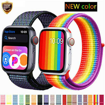 Newest For Apple Watch Series 4 40mm/44mm Nylon Sports Loop iWatch Band Strap