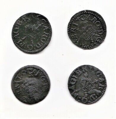4 James I or Charles I Farthings c.1603- 1649  Unidentified  (too Small).