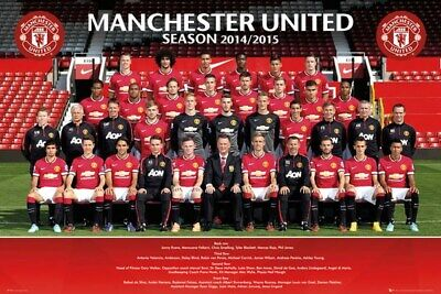 SOCCER POSTER Manchester United Team Photo 2013 2014 20x16 Poster Service