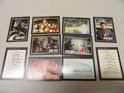 Collection of 10 Impel Star Trek Original Series Trading Cards (1991)