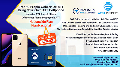 ATT Activation New Service only New  number or Tranfer You Number to ATT Prepaid