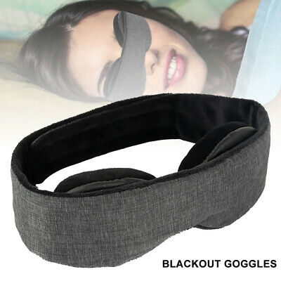 3D Soft Eye Mask Padded Blindfold Blackout Travel Rest Sleep Aid Shade Cover UK