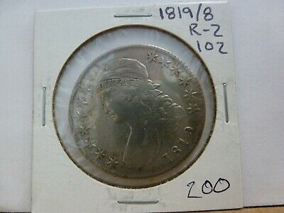 1819/8 Capped Bust Silver Half Dollar