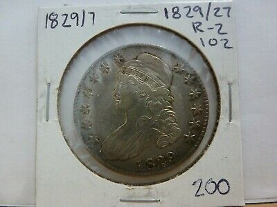 1829/7 Capped Bust Silver Half Dollar