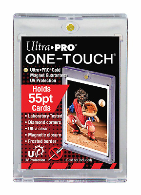 50 Ultra Pro 55 Pt One Touch Magnetic Uv Protected Card Holder