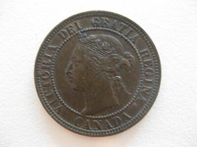 Lot of 3 coins Canadian Victoria Large Cent