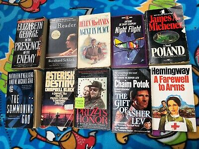 Lot of 10 Suspense Thriller Action Adventure Fiction Paperback Books