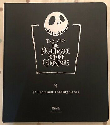 NIGHTMARE BEFORE CHRISTMAS Complete Trading Card Set inc. Binder & Promo Cards