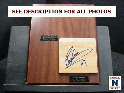 NobleSpirit  NO RESERVE (3970) Tony Parker Autographed Floor Board Plaque
