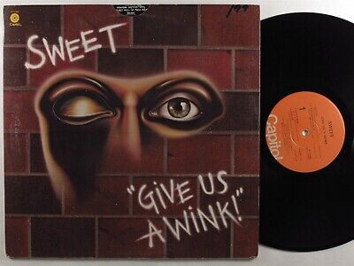 SWEET Give Us A Wink! CAPITOL LP VG++/VG+ die-cut cover <