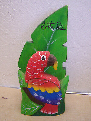 Beautiful Hand Carved Light Wood Parrot Napkin Holder - Costa Rica
