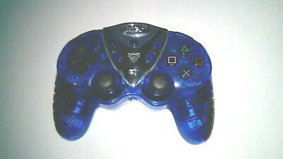 Intec Transparent Blue Wireless Video Game Controller for Playstation 2 PS2